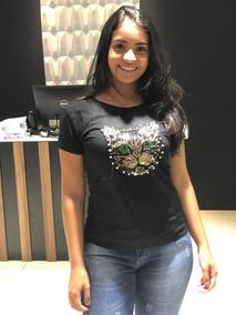 a35020157 Blusas T Shirt Feminina Malha Gatinho Paetê Promoçao 2019