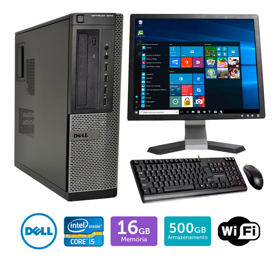 Pc Barato Dell Optiplex 9010int I5 16gb 500gb Mon19q Brinde