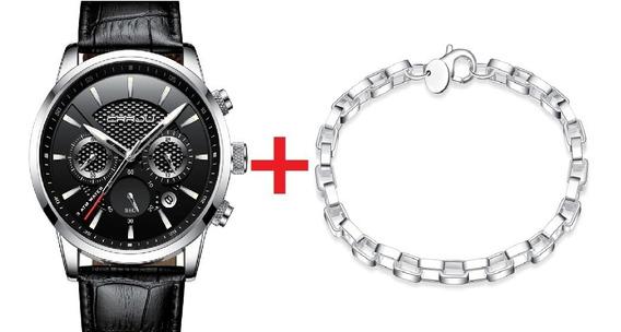 Relógio Masculino Original+ Pulseira Grátis De Brinde