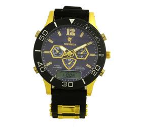 Relógio De Pulso Potenzia Masculino Dourado Com Preto B5671