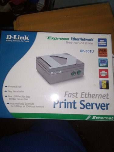 Imagen 1 de 6 de Dlink Dp-301u Print Server 1 10/100 + 1 Usb