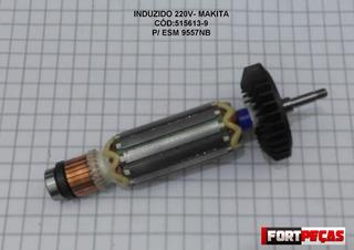 Induzido 220v- 9557nb-makita-original-cód:515613-9