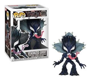 Funko Pop Venom Venomized Groot #511. Orig Purpura Funnyland