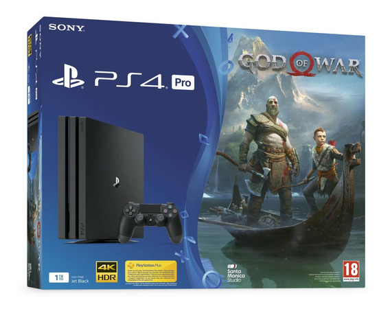 Playstation 4 Pro 1tb God Of War 4 + Fifa 20, Ps4 Cyber Week