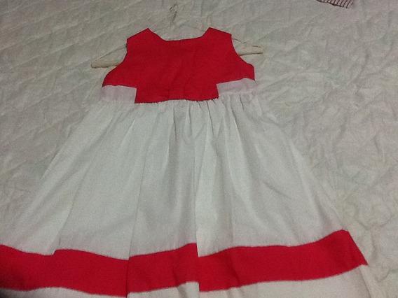 Vestido Blanco Y Fucsia Para Niña Epk Talla 8 Nuevo