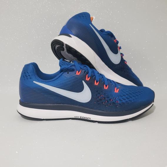 Nike Air Zoom Pegasus 34 Tenis De Corrida Masculino Azul Ori