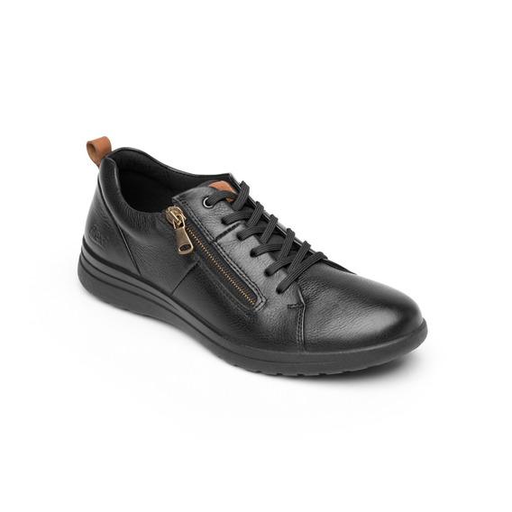 Zapato De Confort Casual Flexi Dama 102001 Negro