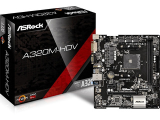 Mother Amd Asrock A320m Hdv Am4 Ryzen Ddr4 Hdmi