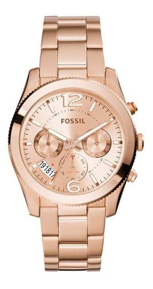 Relógio Feminino Fossil Perfect Boyfriend Es3885/4xn Rose