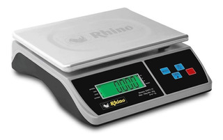 Báscula comercial digital Rhino BAPO 10 kg 110V blanco/gris