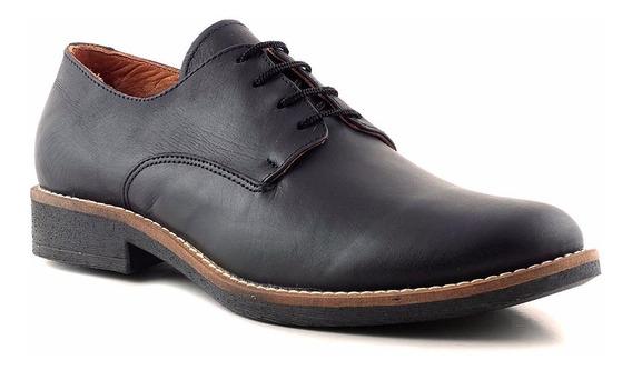 Zapato Hombre Cuero Briganti Goma Casual Negro - Hcac00870