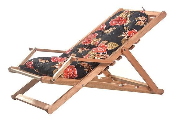 Cadeira Espreguiçadeira Com Almofada