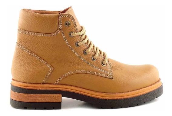 Borcego Bota Cuero Mujer Briganti Zapato Goma - Mcbo24794