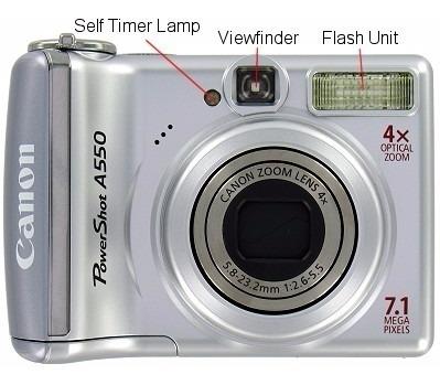 Camara Canon Powershot A550 + Pilas Recargables + Cargador