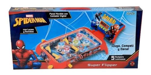 Super Flipper Spiderman Con Luz Y Sonido Tt2 2408 Ttm