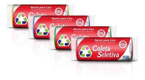 Sacos De Lixo Coleta Seletiva 30lts C/200 Sacos