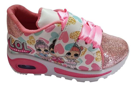 Zapatos Lol Con Luces Deportivo Para Niñas