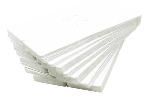 1000 Solapas De Papel Branca Para Joias - 9 X 16 Cm