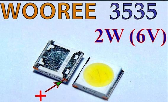 140 Led 3535 6v 2w 150lm Wooree Backlight Tv Lg E Philips