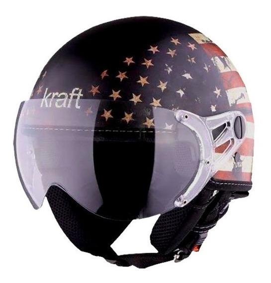 Capacete Kraft Plus Bandeira Usa Estados Unidos Eua Us