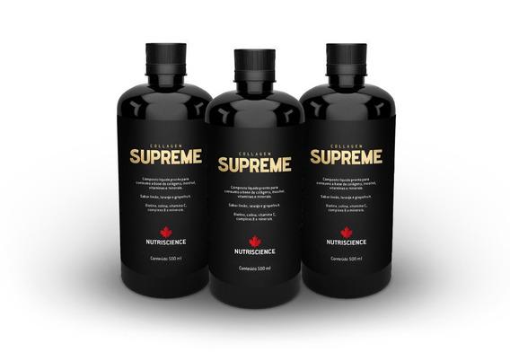 Combo 3 Unidades Collagen Supreme Nutriscience 500ml