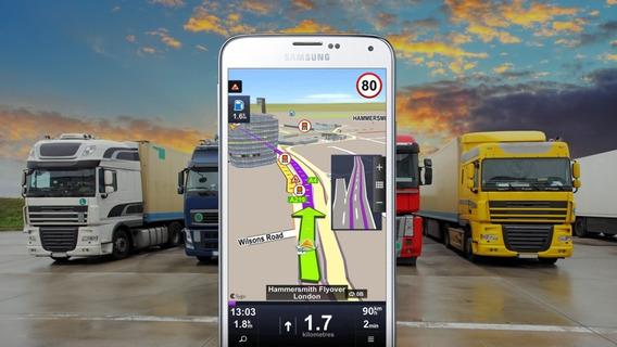 Navegador Gps P/ Trailer + Mapa Mexico / Usa Para Android