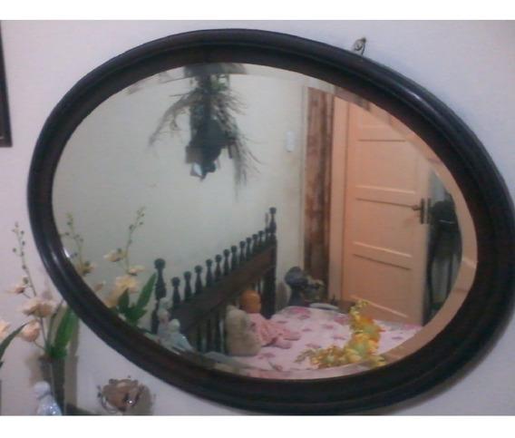 Espelho Bisotado Grande Oval Frete Grátis