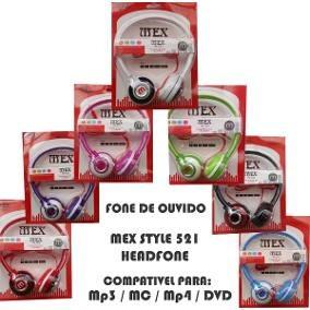 Headphone Fone De Ouvido Estéreo Com Fio Mex - In521