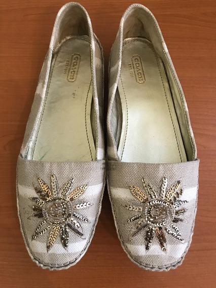 Hermosos Zapatos De Tela Coach Originales