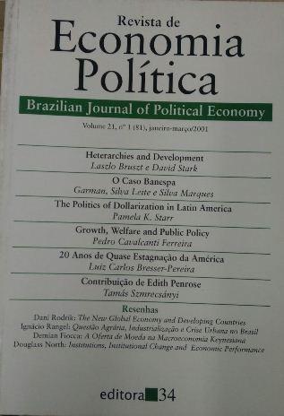 Revista De Economia Política Vol. 21 Nº1 Lazlo Bruszt / Dav