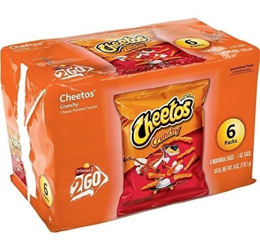 Cheetos Crujiente De Queso Con Sabor Snacks, 1 Oz Bolsas, 6