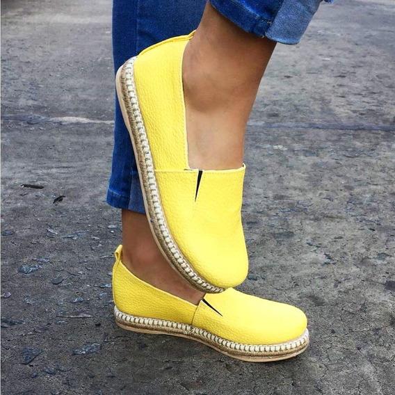 Alpargata Mujer Amarilla Super Comodas