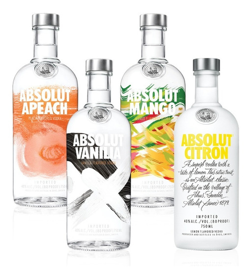 Kit Vodka Absolut Flavors Completo