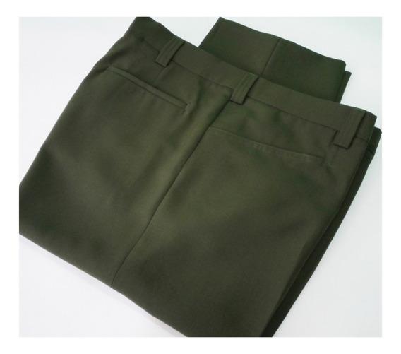 Pantalones Caballeros Vestir Casual Uniforme Tallas 36 A 46