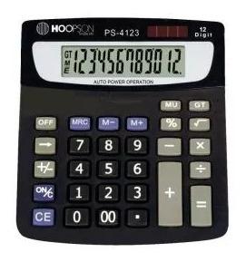 10 Calculadora De Mesa 12digitos Bat/solar Preta Promoção