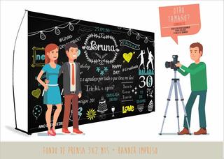 Back Prensa 3x2mt -fondo Fotos - Banner Portabanner Promo