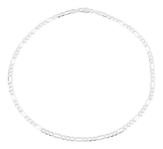 Collar De Cadena De Plata Maciza De 4 Mm Para Hombres De 16-
