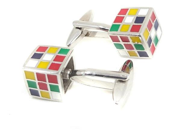Mancuernillas Cubo Rubik Cube Camisa Vestir Elegante Traje Corbata Fiesta Oficina - Envío Gratis