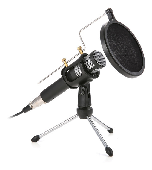 Usb Professional Home Studio Condensador Microfone Para Tran