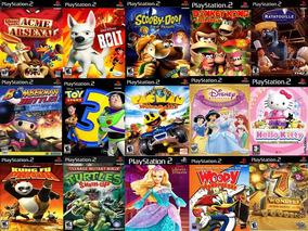Kit Com 15 Jogos Meninos & Meninas Para Playstation 2