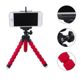 Mini Tripé Flexível Para Câmera, Iphone, Smartphone Youtuber