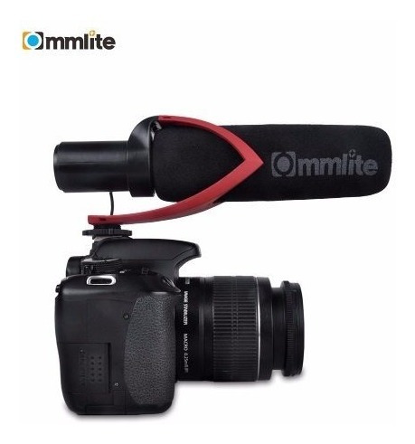 Microfone Profissional Uni Direcional Para Filmadora Cinema