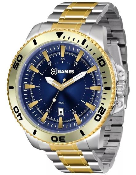 Relógio X-games Masculino Xmts1002 D2sk Misto Azul