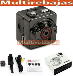 Mini Camara Espia Sq8 Hd 720p 30fps Micro Sd Card