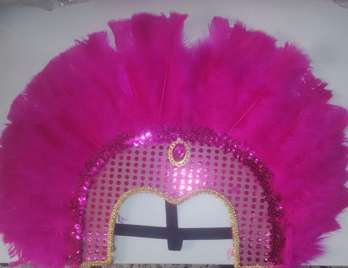 Tocado Pluma Fiesta Arlequin Piñateria Hora Loca