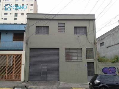 Galpão Para Alugar, 489 M² Por R$ 6.000/mês - Mooca - São Paulo/sp - Ga0001
