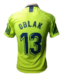 Camisa Blusa Do Goleiro Atletico De Madri Oblak Verde Neon