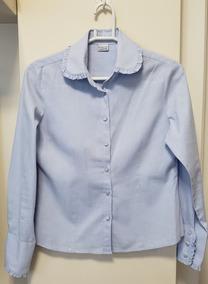 Camisa Feminina Folic Original Cor Azul Claro 38 Usada