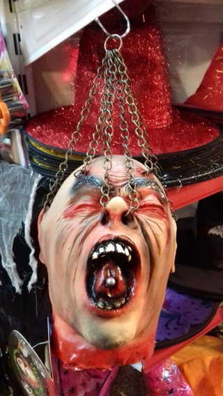 Decoracion Halloween Cabeza Decapitado Latex