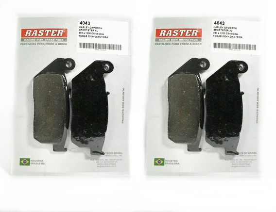 4043(2) E 4041(1) Kit Pastilhas Dianteira E Traseira Harley Davidson 883 Sportster Xl E 1200 Sportster Xl R